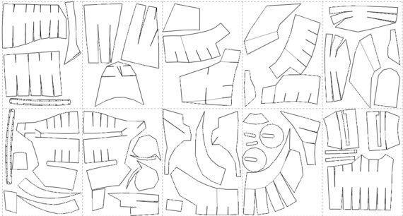 Eva Foam pepakura patterns to build your own armor suit of