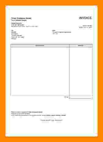 6+ services invoice template word | Short paid invoice