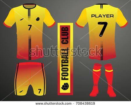 Vector Illustration Football Tshirt Template Soccer Stock Vector ...