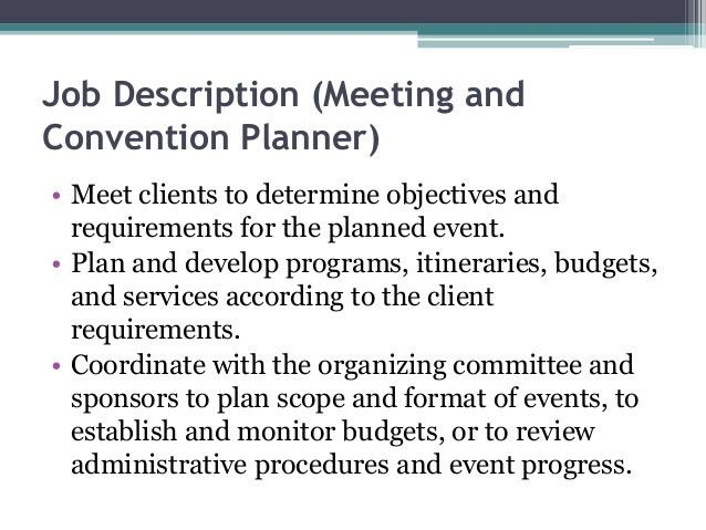 Event Coordinator Job Description. Job Description For Event . Good Ideas
