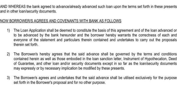 Example Of Form Loan Agreement Form Loan Agreement Standard Loan ...