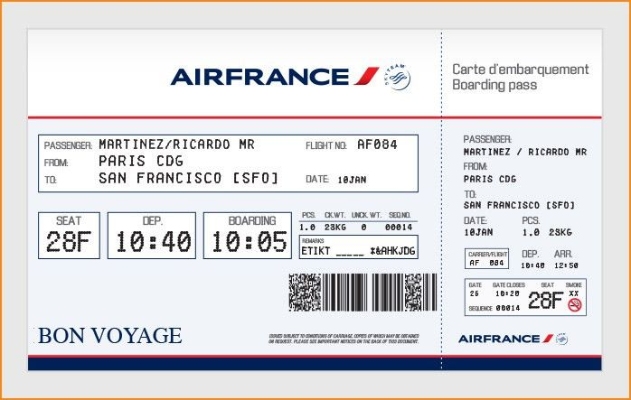 Fake Plane Ticket Template [Nfgaccountability.com ]  Fake Ticket Template