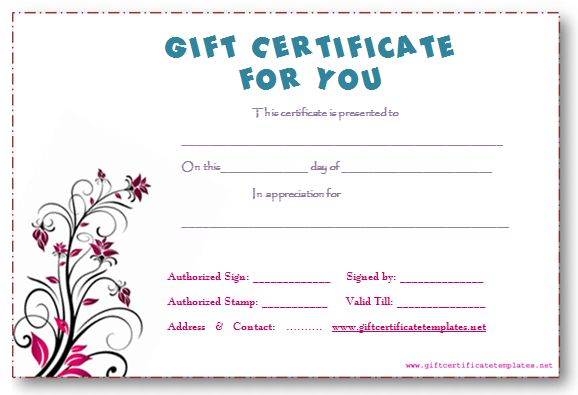 10 Best Images of Printable Gift Certificate Template Free Fill In ...