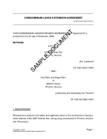 Lease Extension Agreement (Philippines) - Legal Templates ...