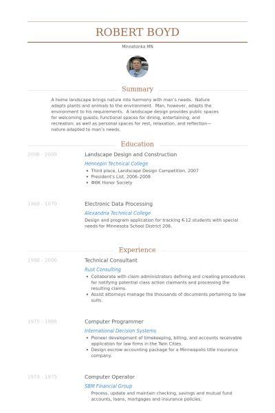 Technical Consultant Resume samples - VisualCV resume samples database