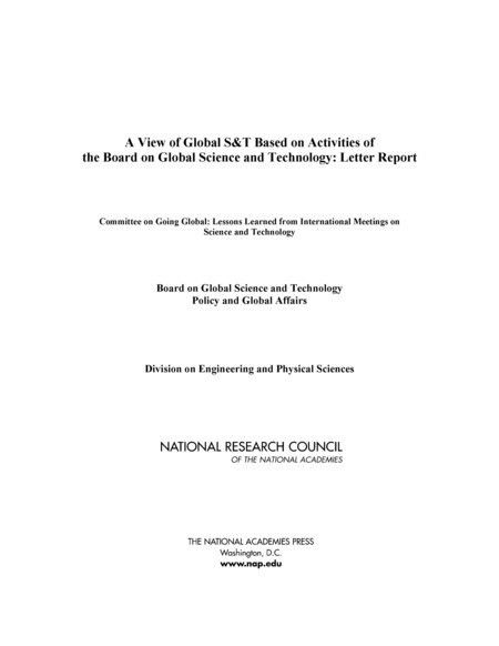 A View of Global S&T Based on Activities of the Board on Global ...