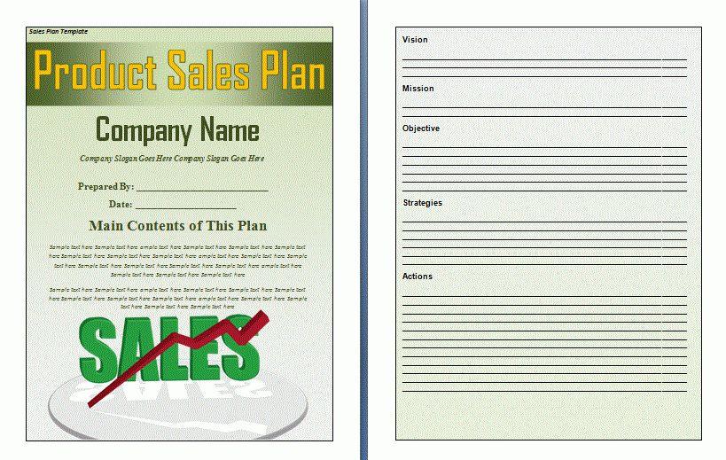 Sales Plan Template - vnzgames