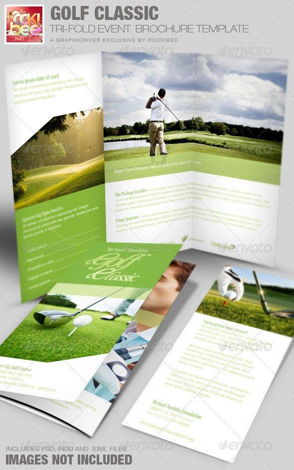 Golf Classic Event Tri-fold Brochure Template by Rockibee ...