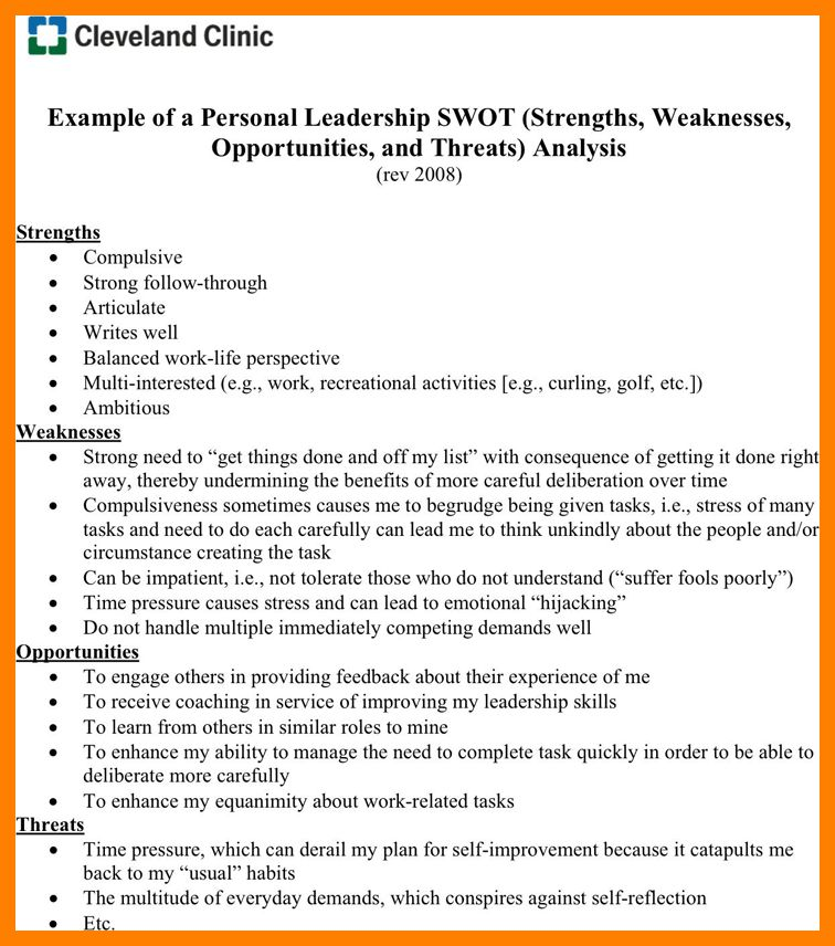 8+ swot analysis example personal | packaging clerks