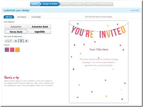 Create Invitation Cards Online Free - Festival-tech.Com