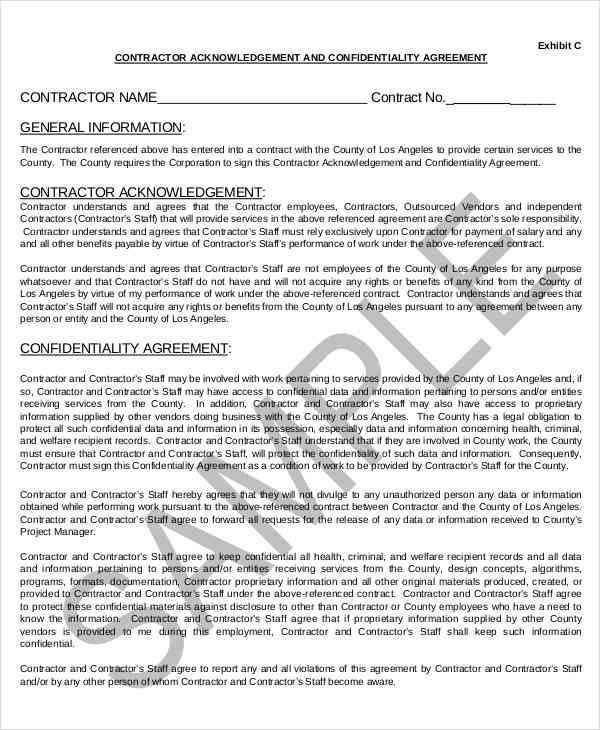 Confidentiality Clause Contract [Nfgaccountability.com ]
