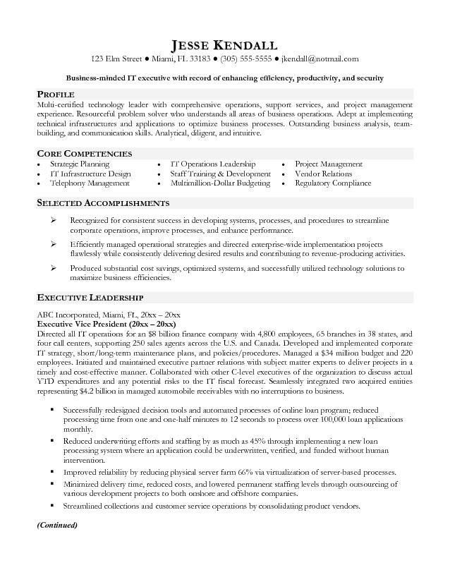 vp sales sample resume executive resume writing services vice ...