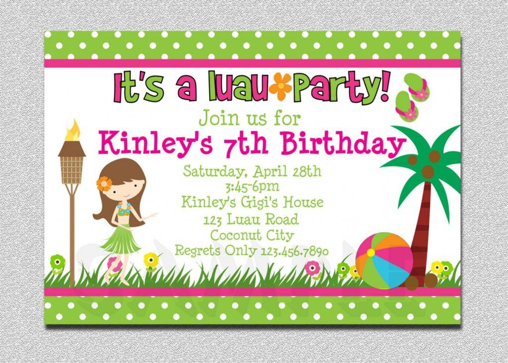 Free Luau Invitations Templates - Party XYZ