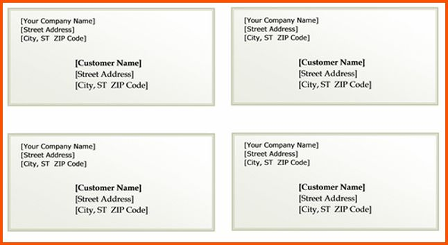 11+ mailing label templates | Survey Template Words