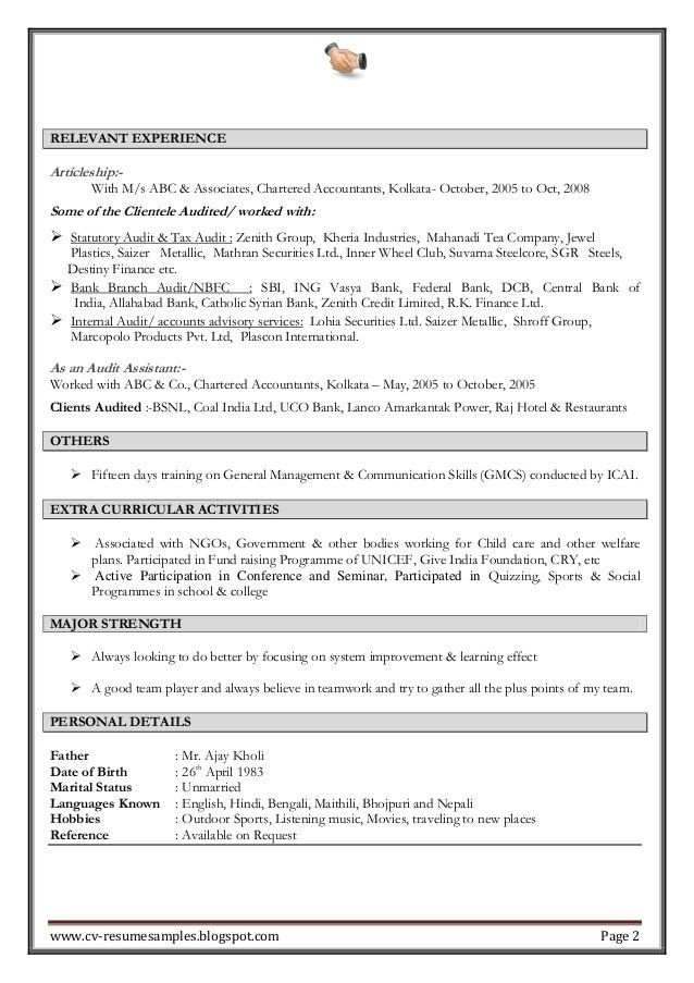 Resume Examples For Experienced Professionals. Professional It ...