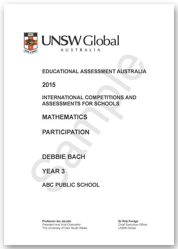 ICAS Awards and Recognition - Educational Assessment Australia (EAA)