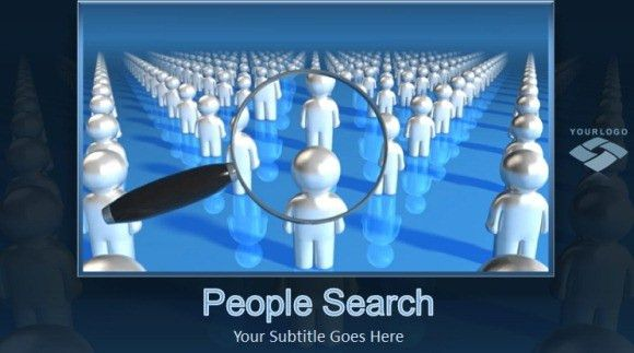 Animated People Search PowerPoint Template