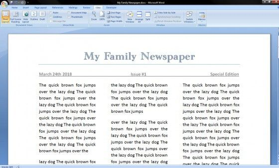 How to Make a Newspaper on Microsoft Word