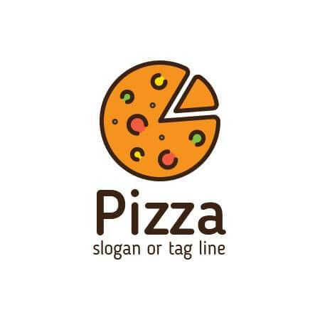 Pizza logo design template for any italian or pizza business from ...
