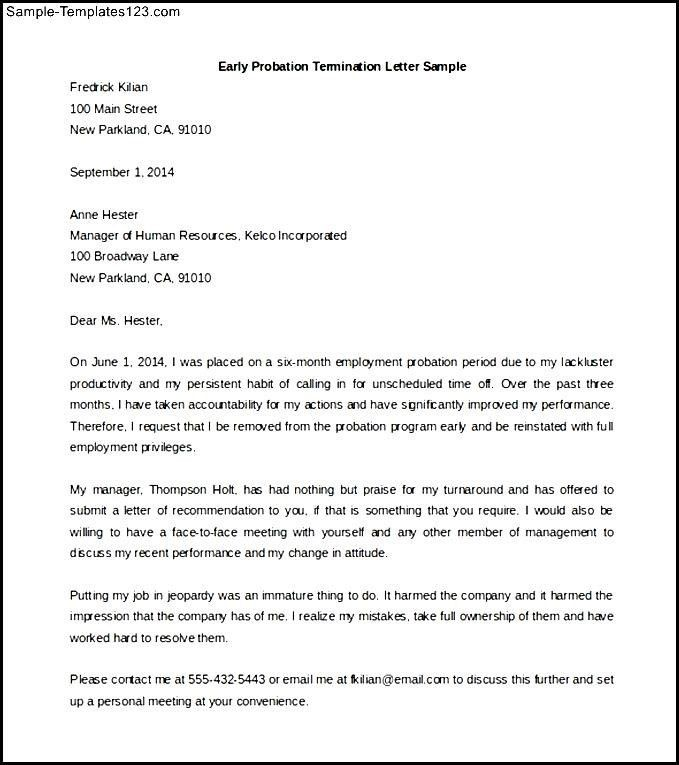 Employee Termination Letter Sample Free | Create professional ...