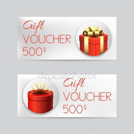 Gift voucher Stock Vectors, Royalty Free Gift voucher ...