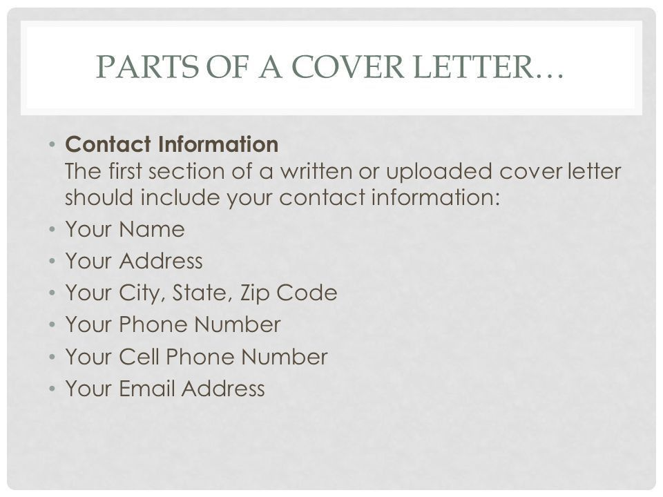 examples of a cover letter should include what what do cover what ...