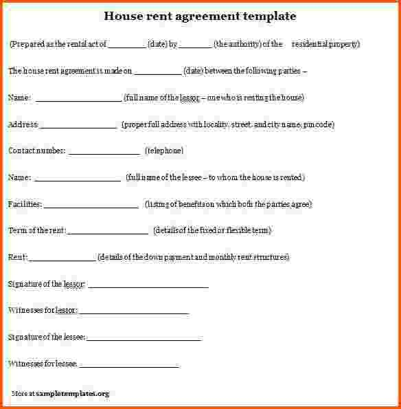 7+ rental agreement format | Survey Template Words