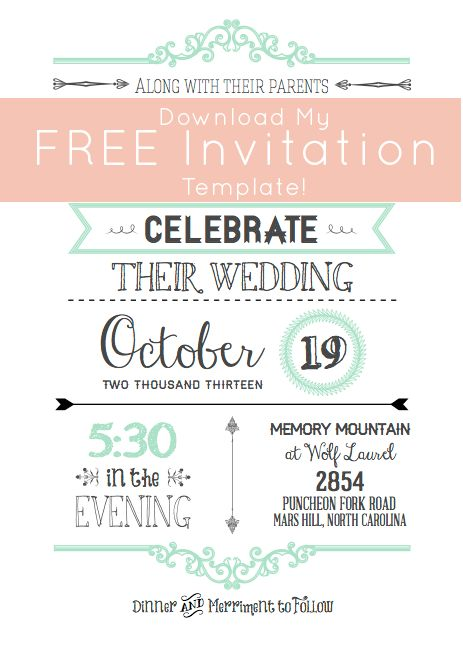 Free Wedding Invitation Templates | cyberuse