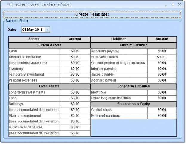 Personal Balance Sheet Template for Pinterest : Selimtd