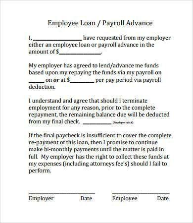 payroll agreement template