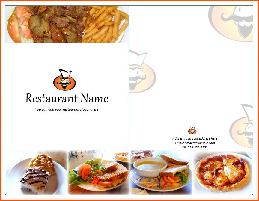 9+ restaurant menu template   Survey Template Words