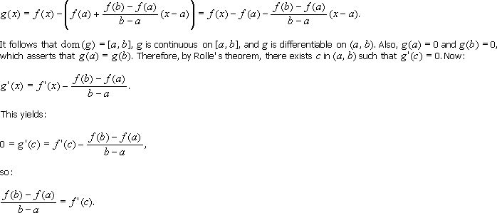 5.1 The Mean-Value Theorem
