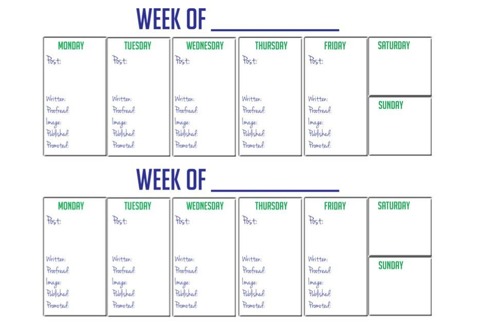 Printable Two Week Calendar » Calendar Template 2017