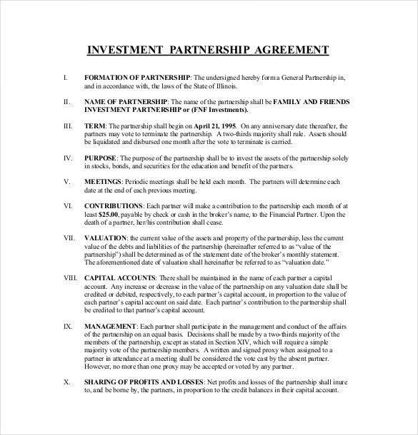 9+ Investment Agreement Templates – Free Sample, Example, Format ...