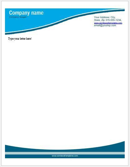 Business Letterhead Templates for MS Word | Word & Excel Templates