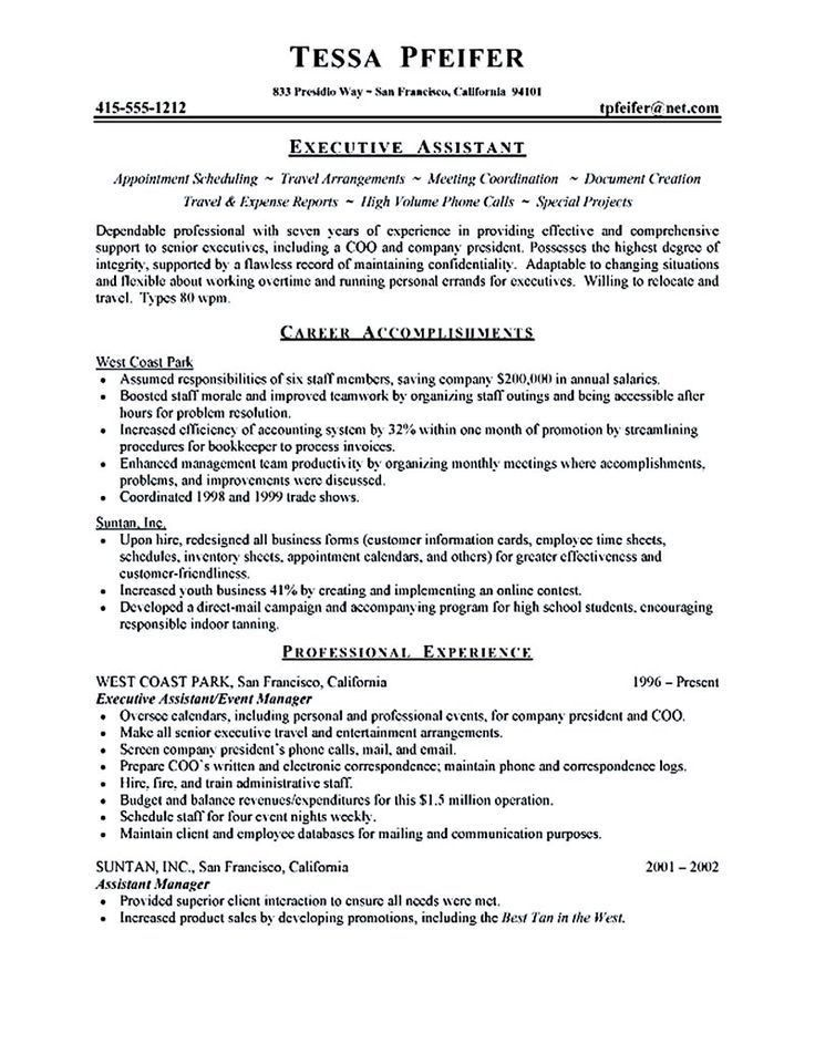 best executive resume format resume format. human resources ...