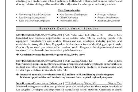 development officer sample resume