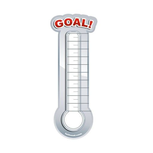 fundraising thermometer template | For J | Pinterest | Fundraising ...