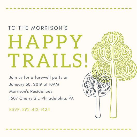 Earthy Trees Farewell Party Invitation - Templates by Canva