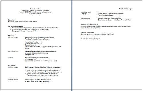 Step-by-step guide to a successful CV - Jobline LMU - LMU Munich