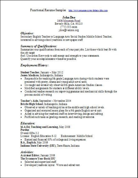 Functional Resume Template - http://www.jobresume.website ...