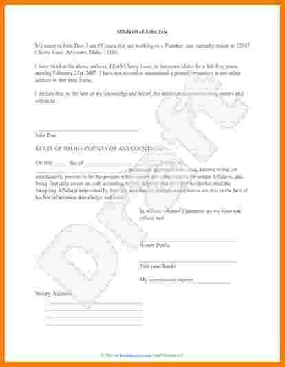 6+ sworn statement example letter | Case Statement 2017