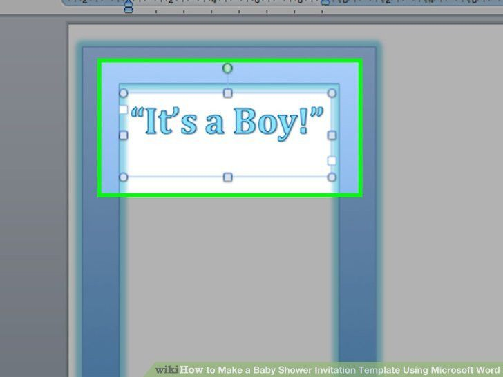 How to Make a Baby Shower Invitation Template Using Microsoft Word