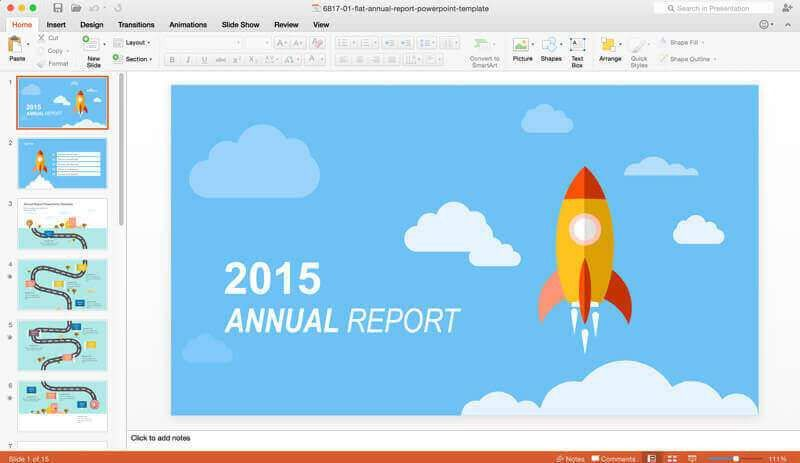 Annual Report Template Free 2016 | Free Business Template
