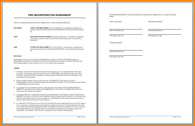 7+ partnership contract template   memo templates