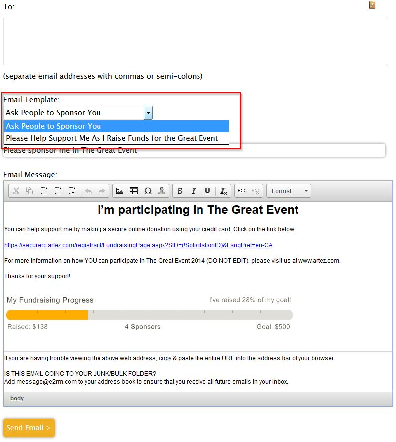 Fundraiser email templates – FrontStream