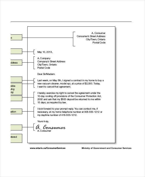 Agreement Letter Templates - 6+ Free Sample, Example, Format ...