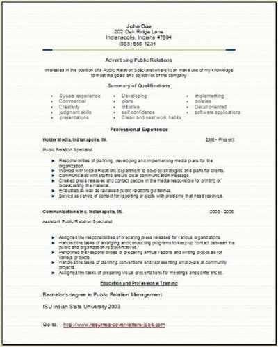 Public Relation Officer Resume] Sample Public Relations Resume .
