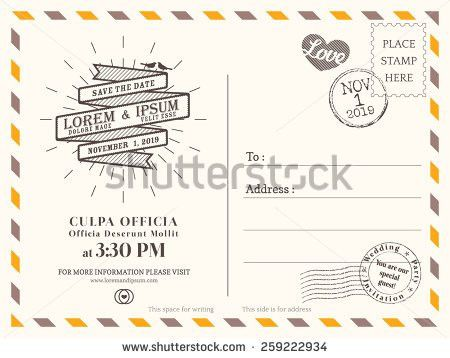 Postcard Invitation Template - Themesflip.Com
