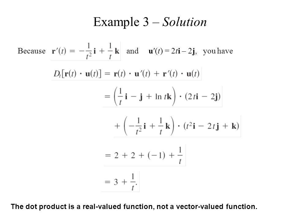 What is tested is the calculus of parametric equation and vectors ...
